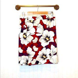 Ann Taylor Factory Floral Pencil Skirt Size 6
